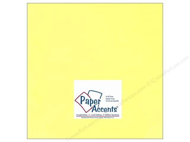 Cardstock 12 x 12 in. #110 Smooth Electric Yellow by Paper Accents (25 sheets)