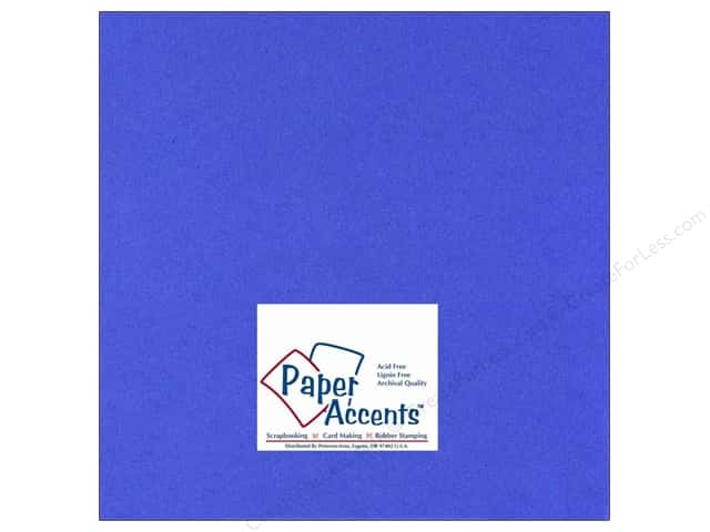 Paper Accents Cardstock 12 x 12 in. #111 Smooth Cobalt (25 sheets)