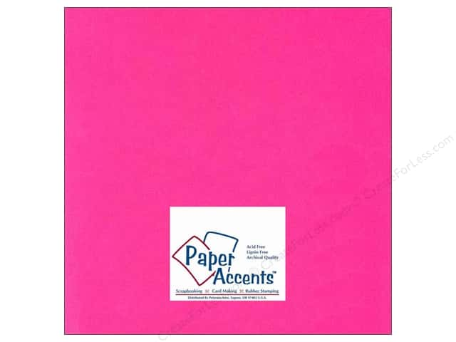 Paper Accents Cardstock 12 x 12 in. #112 Smooth Fuchsia (25 sheets)