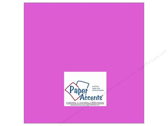 Paper Accents Cardstock 12 x 12 in. #114 Smooth Purple (25 sheets)
