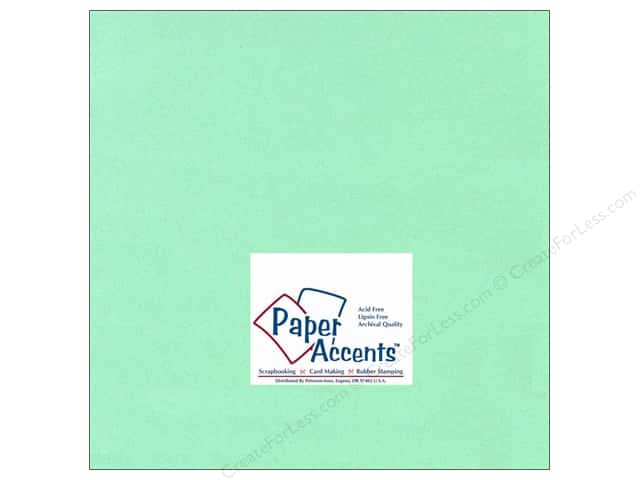 Cardstock 12 x 12 in. #118 Smooth Light Green by Paper Accents (25 sheets)