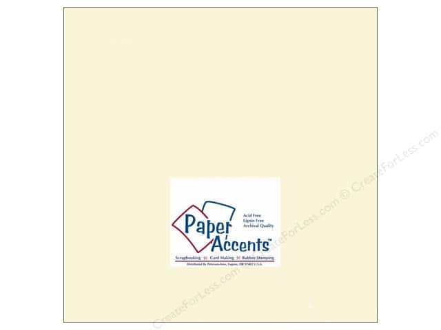 Paper Accents Cardstock 12 x 12 in. #119 Smooth Cream (25 sheets)