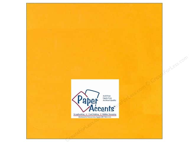 Paper Accents Cardstock 12 x 12 in. #120 Smooth Goldenrod (25 sheets)