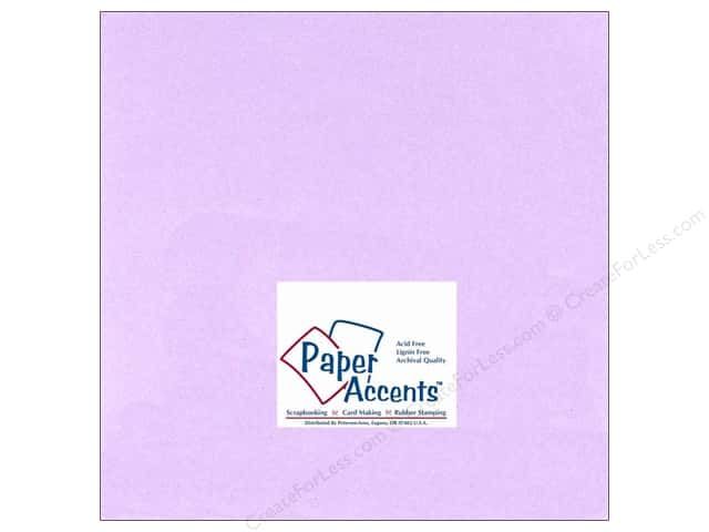 Cardstock 12 x 12 in. #123 Smooth Lavender by Paper Accents (25 sheets)