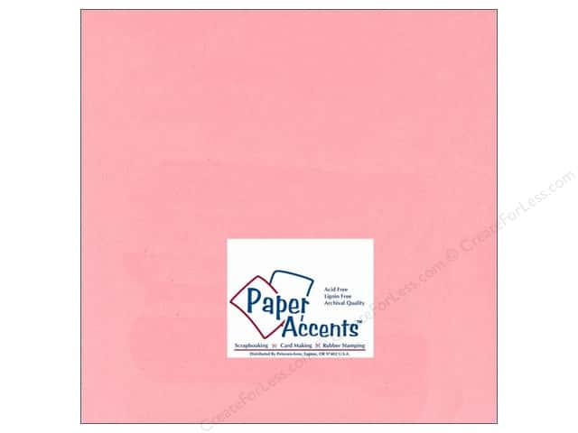 Paper Accents Cardstock 12 x 12 in. #124 Smooth Light Pink (25 sheets)