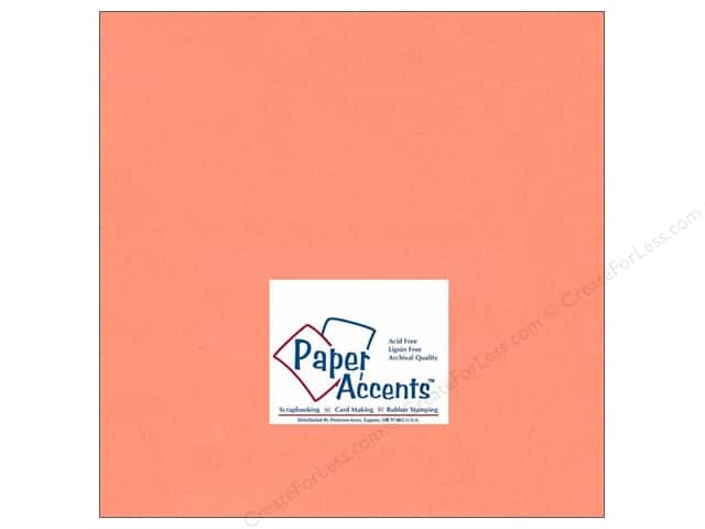 Paper Accents Cardstock 12 x 12 in. #125 Smooth Salmon (25 sheets)