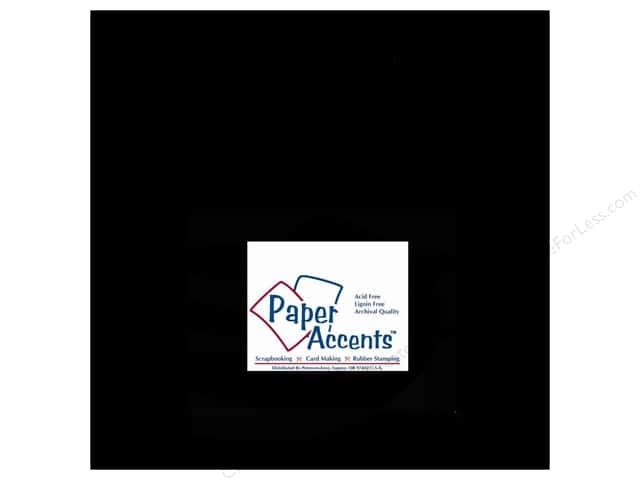 Paper Accents Cardstock 12 x 12 in. #127 Smooth Black (25 sheets)