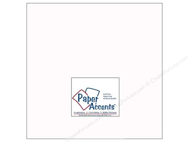 Paper Accents Cardstock 12 x 12 in. #128H Smooth White - 100 lb. (25 sheets)