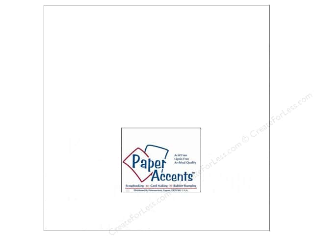 Paper Accents Cardstock 12 x 12 in. #129 Smooth Matte White (25 sheets)