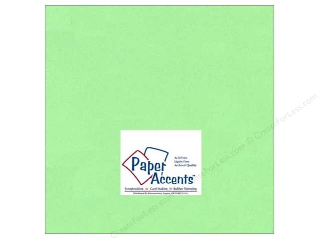 Cardstock 12 x 12 in. #132 Smooth Apple Green by Paper Accents (25 sheets)