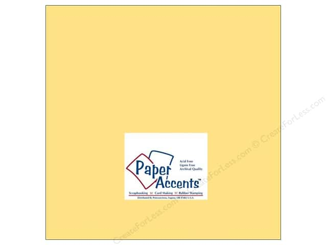 Paper Accents Cardstock 12 x 12 in. #138 Smooth Sunflower (25 sheets)