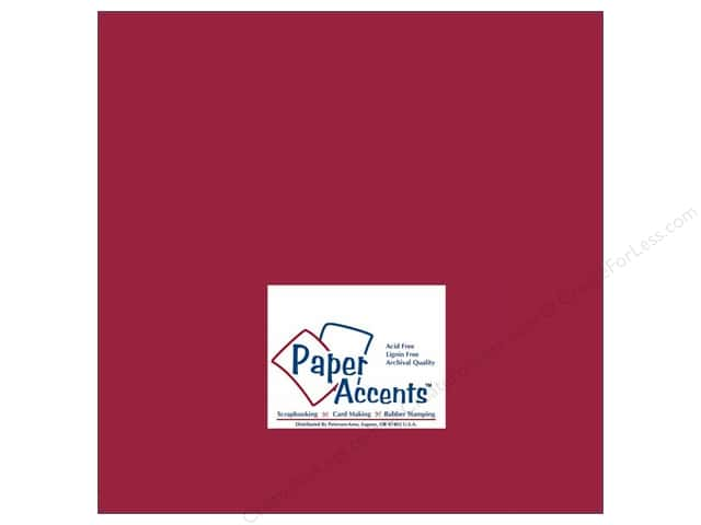 Cardstock 12 x 12 in. #139 Smooth Dark Red by Paper Accents (25 sheets)