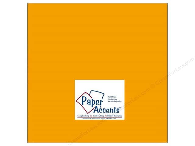 Paper Accents Cardstock 12 x 12 in. #143 Smooth Pumpkin (25 sheets)