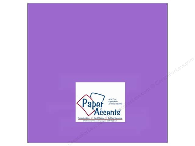 Paper Accents Cardstock 12 x 12 in. #146 Smooth Violet (25 sheets)