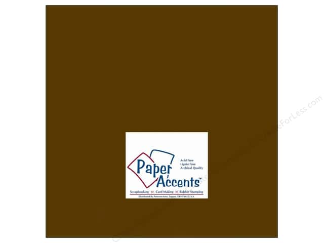 Cardstock 12 x 12 in. #147 Smooth Java by Paper Accents (25 sheets)