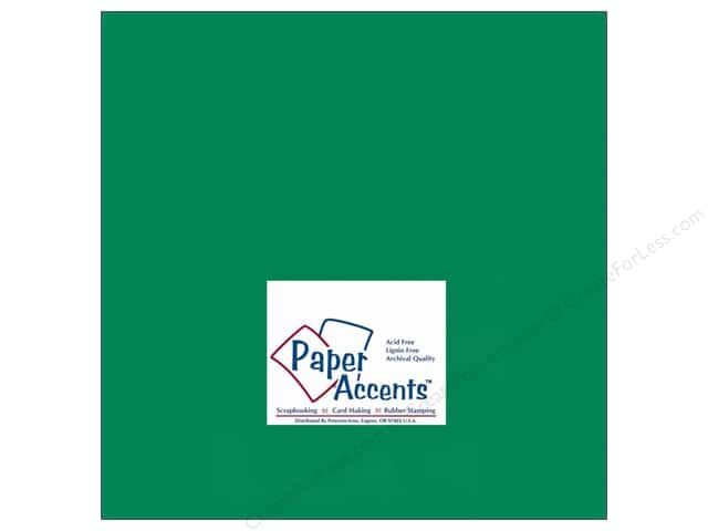 Cardstock 12 x 12 in. #90 Smooth Green Grass by Paper Accents (25 sheets)