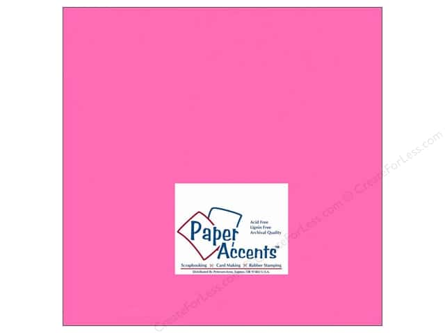 Paper Accents Cardstock 12 x 12 in. #149 Smooth Bubblegum (25 sheets)
