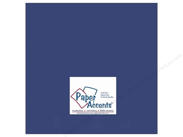 Cardstock 12 x 12 in. #153 Smooth Lapis by Paper Accents (25 sheets)