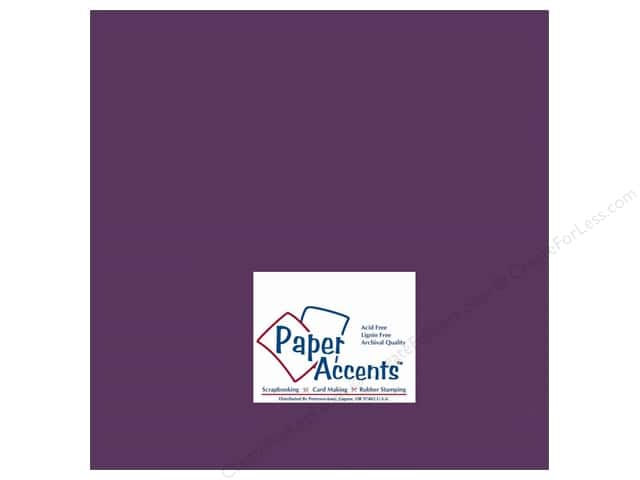 Paper Accents Cardstock 12 x 12 in. #154 Smooth Boysenberry (25 sheets)