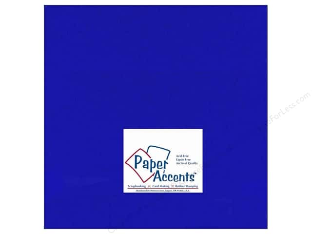 Cardstock 12 x 12 in. #159 Smooth Royal Blue by Paper Accents (25 sheets)
