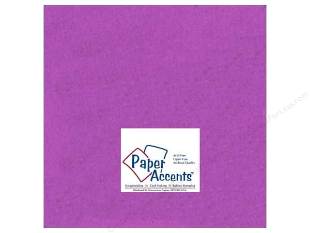 Cardstock 12 x 12 in. #160 Smooth Grape by Paper Accents (25 sheets)