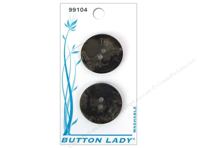 JHB Button Lady Buttons 3/4 in. Brown/Beige #99104 4 pc.