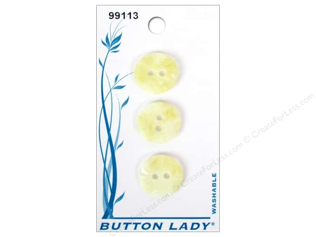 JHB Button Lady Buttons 5/8 in. Ivory #99113 3 pc