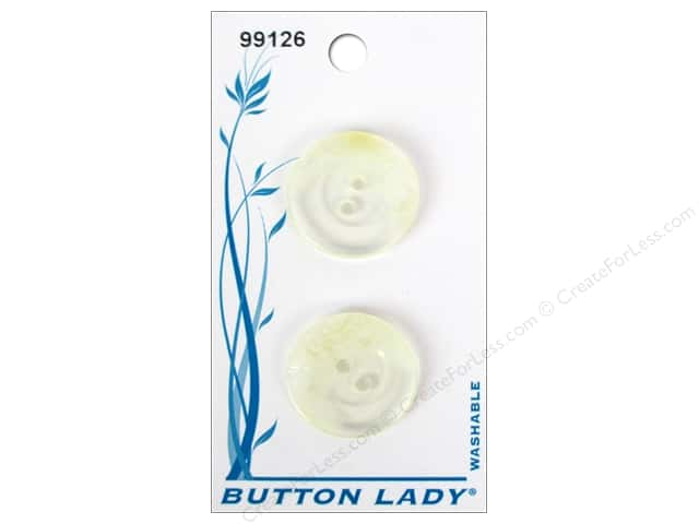 JHB Button Lady Buttons 7/8 in. Clear #99126 2 pc.