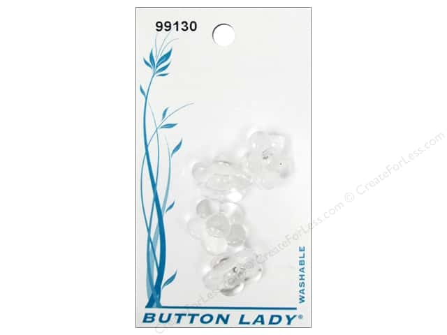 JHB Button Lady Buttons 5/8 in. Clear #99130 4 pc.