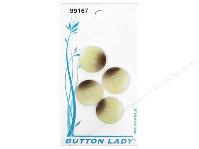 JHB Button Lady Buttons 5/8 in. Marbled Beige & Brown #99167 4 pc.