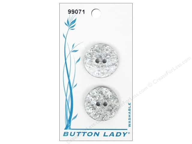 JHB Button Lady Buttons 3/4 in. White #99071 4 pc.