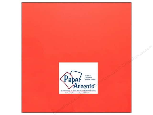 Cardstock 12 x 12 in. #174 Smooth Lipstick by Paper Accents (25 sheets)
