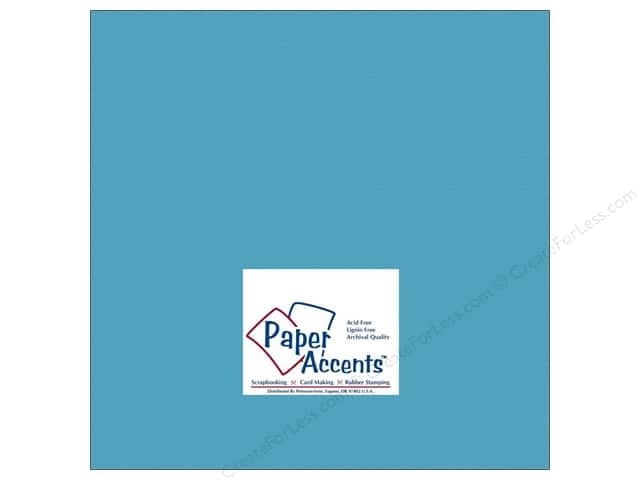Cardstock 12 x 12 in. #176 Smooth Cyan by Paper Accents (25 sheets)