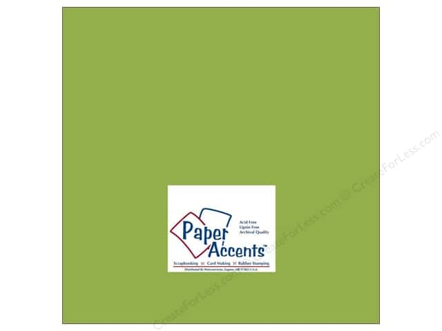 Paper Accents Cardstock 12 x 12 in. #177 Smooth Leaf Green (25 sheets)