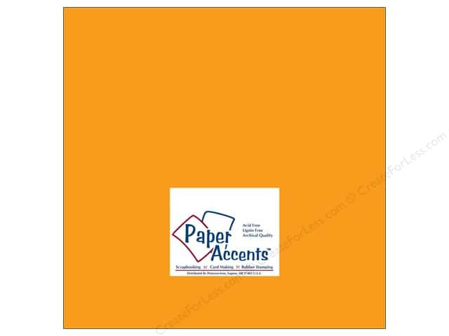 Cardstock 12 x 12 in. #179 Stash Builder Squash by Paper Accents (25 sheets)