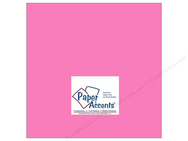 Paper Accents Cardstock 12 x 12 in. #191 Smooth Pink Sizzle (25 sheets)