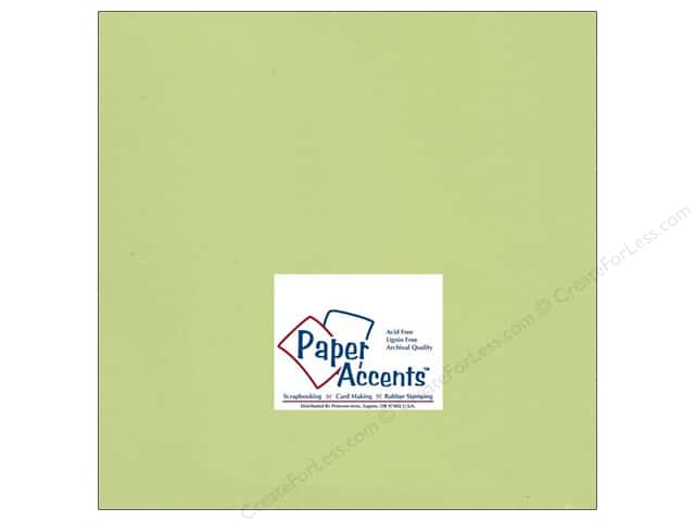 Cardstock 12 x 12 in. #195 Smooth Sour Apple by Paper Accents (25 sheets)