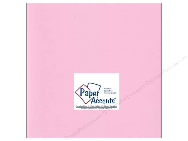 Paper Accents Cardstock 12 x 12 in. #196 Smooth Carnation (25 sheets)