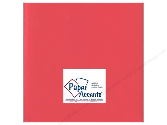 Cardstock 12 x 12 in. #197 Smooth Poppy by Paper Accents (25 sheets)
