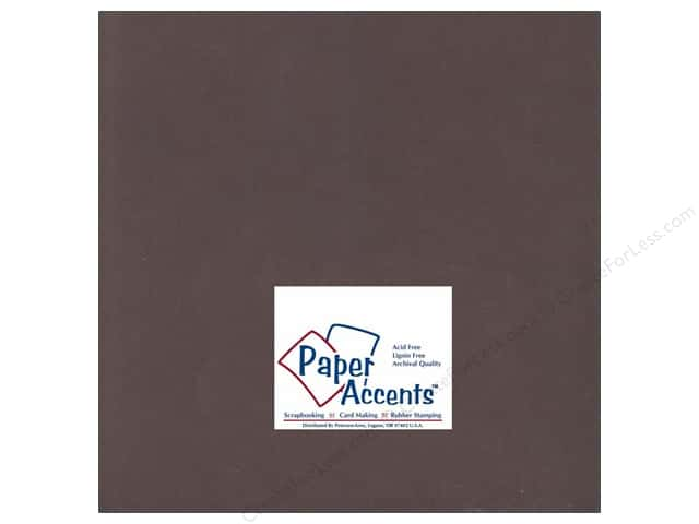 Paper Accents Cardstock 12 x 12 in. #198 Smooth Hot Fudge (25 sheets)