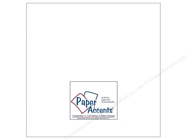 Cardstock 12 x 12 in. #201 Parchment White by Paper Accents (25 sheets)