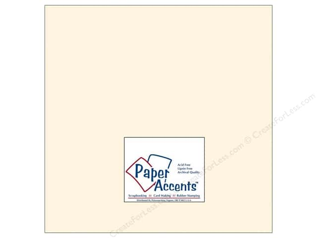 Cardstock 12 x 12 in. #202 Parchment Cream by Paper Accents (25 sheets)