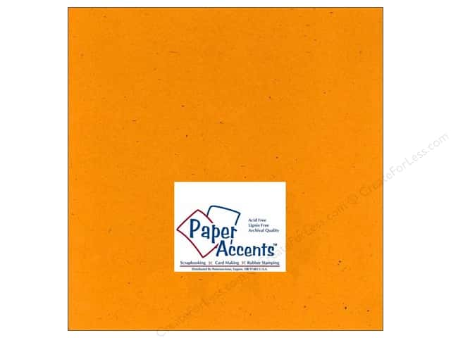 Paper Accents Cardstock 12 x 12 in. #353 Recycled Marigold (25 sheets)