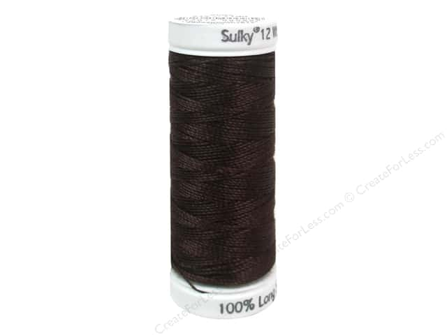 Sulky Cotton Thread Petites 12wt 50yd Dark Brown