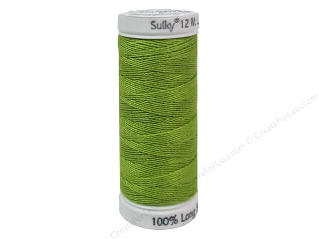 Sulky Cotton Thread Petites 12wt 50yd Deep Chartreuse