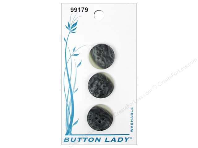 JHB Button Lady Buttons 5/8 in. Marble #99179 3 pc.