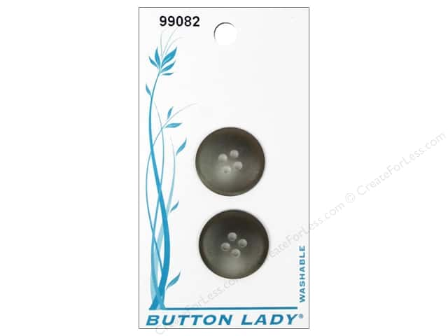 JHB Button Lady Buttons 3/4 in. Grey & Brown #99082 2 pc.