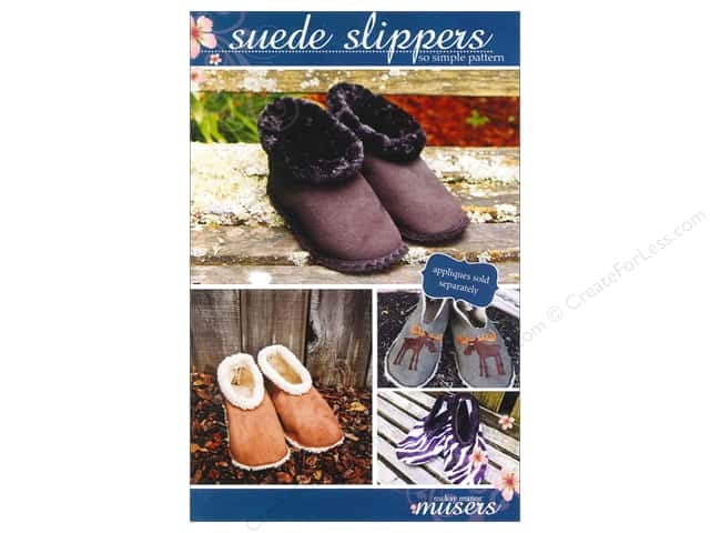 Mckay Manor Musers Suede Slippers Adult Size Pattern