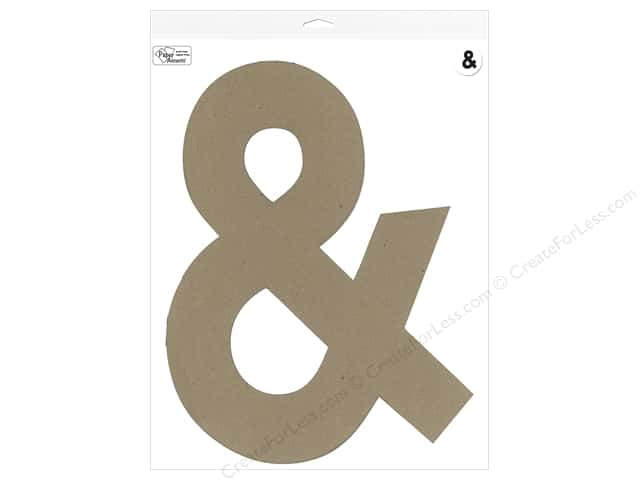 "Paper Accents Chipboard Shape Punctuation ""&"" 16 in. 1 pc. Kraft"