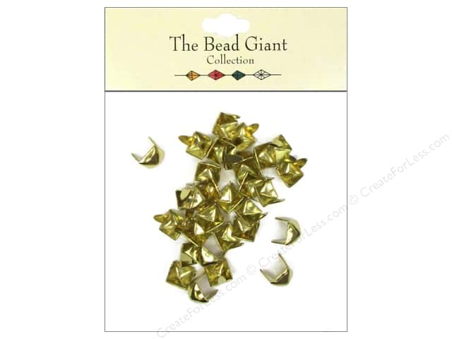 The Bead Giant Collection Nailhead Pyramid 1/4 in. Gold 30 pc.